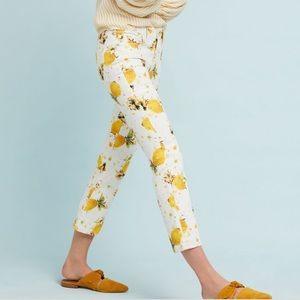 Pilcro high rise cropped bootcut lemon grove jeans